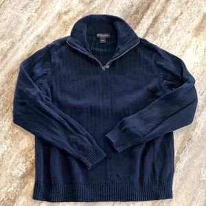 Brooks Brothers Quarter Zip 100% Cotton Sweater